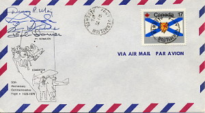 Flight Cover for 1979 Mercy Flight Re-enactment