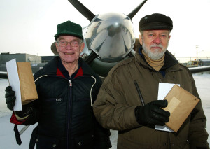 Bob Horner and Denny May with Pilatus