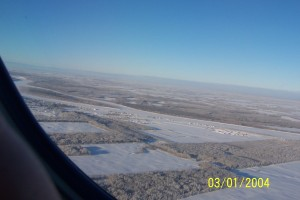 2004.31 - Fort Vermilion from the air - Jan 03 2004