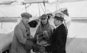 Wop, Vic & Dr. Bow - Press Photo after flight