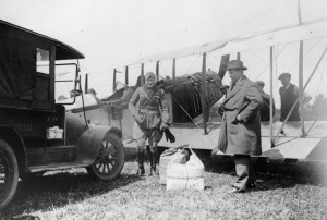 June 7, 1919 - George Gorman in front of Curtiss Canuck with R. Jennings - Journal publisher